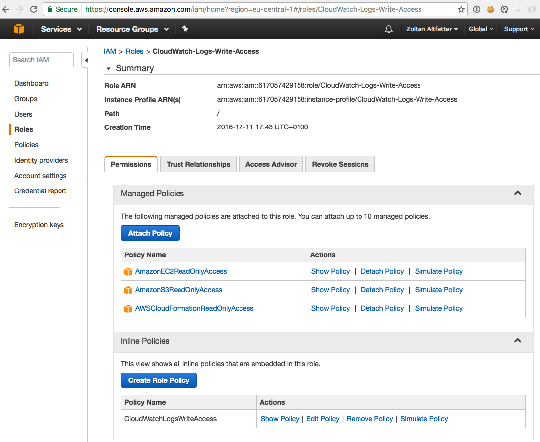 Centralized logging with CloudWatch Logs – Zoltan Altfatter